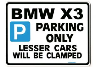 BMW X3 LargeMetal  ParkingSign also for  m3 z3 z4 -Gift